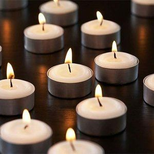 200x - Tea Light Candles 4 hours burn unscented